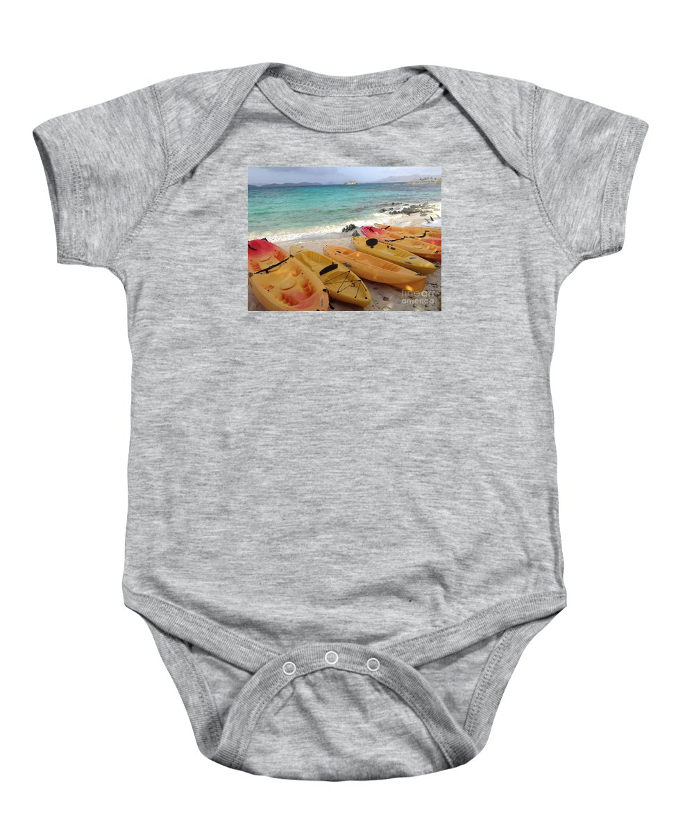 St. Thomas Baby Onesie featuring the photograph Beach Toys by Gina Sullivan