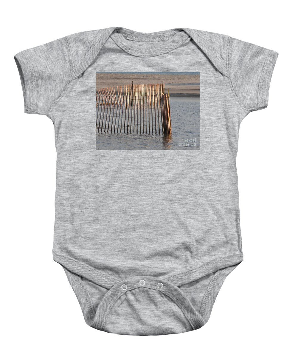 Beach Baby Onesie featuring the photograph Beachy by Diane Greco-Lesser
