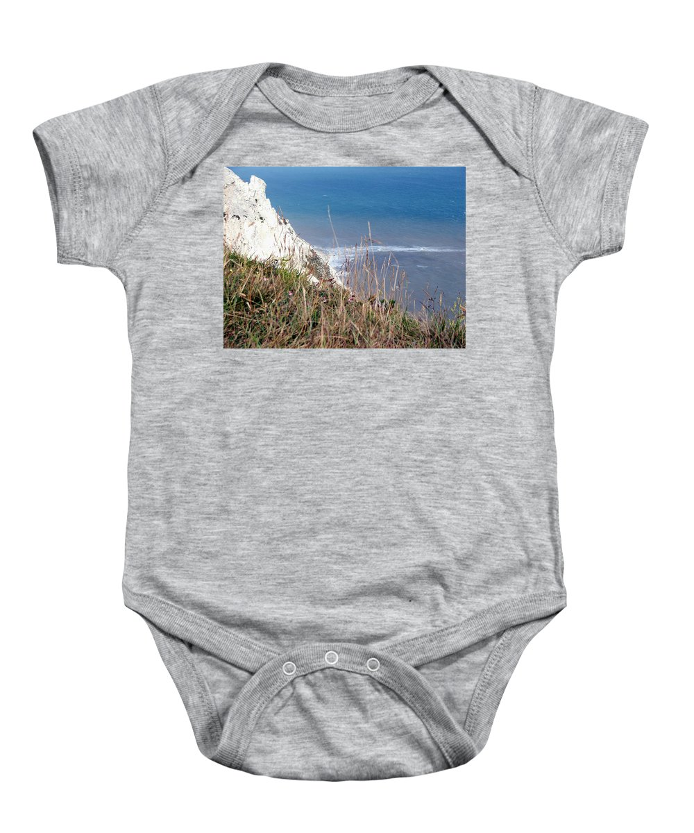 Beachy Head Baby Onesie featuring the photograph Beachy Head Sussex by Heather Lennox