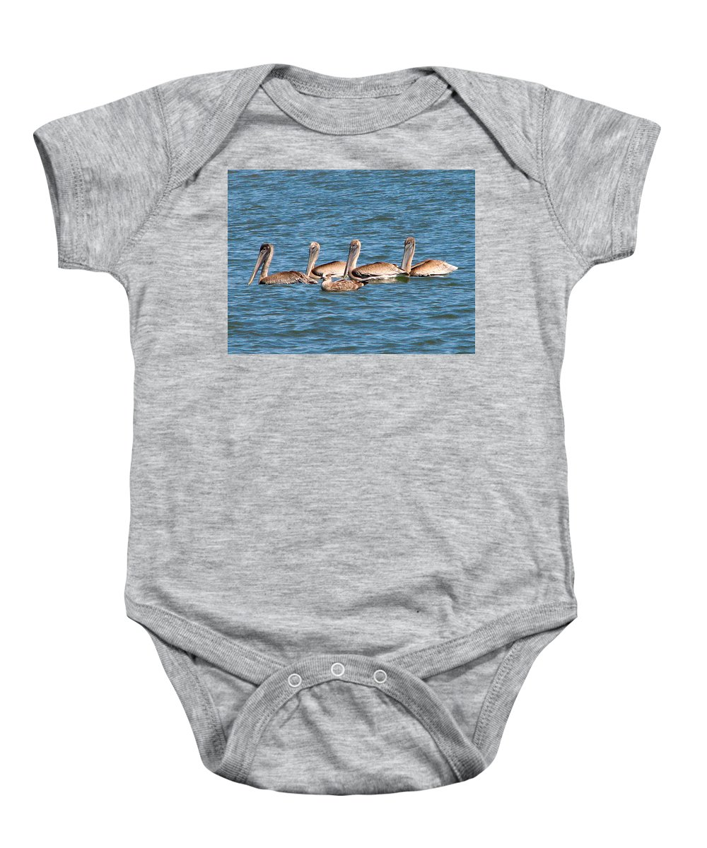 Beaks Baby Onesie featuring the photograph Beak Envy by J M Farris Photography