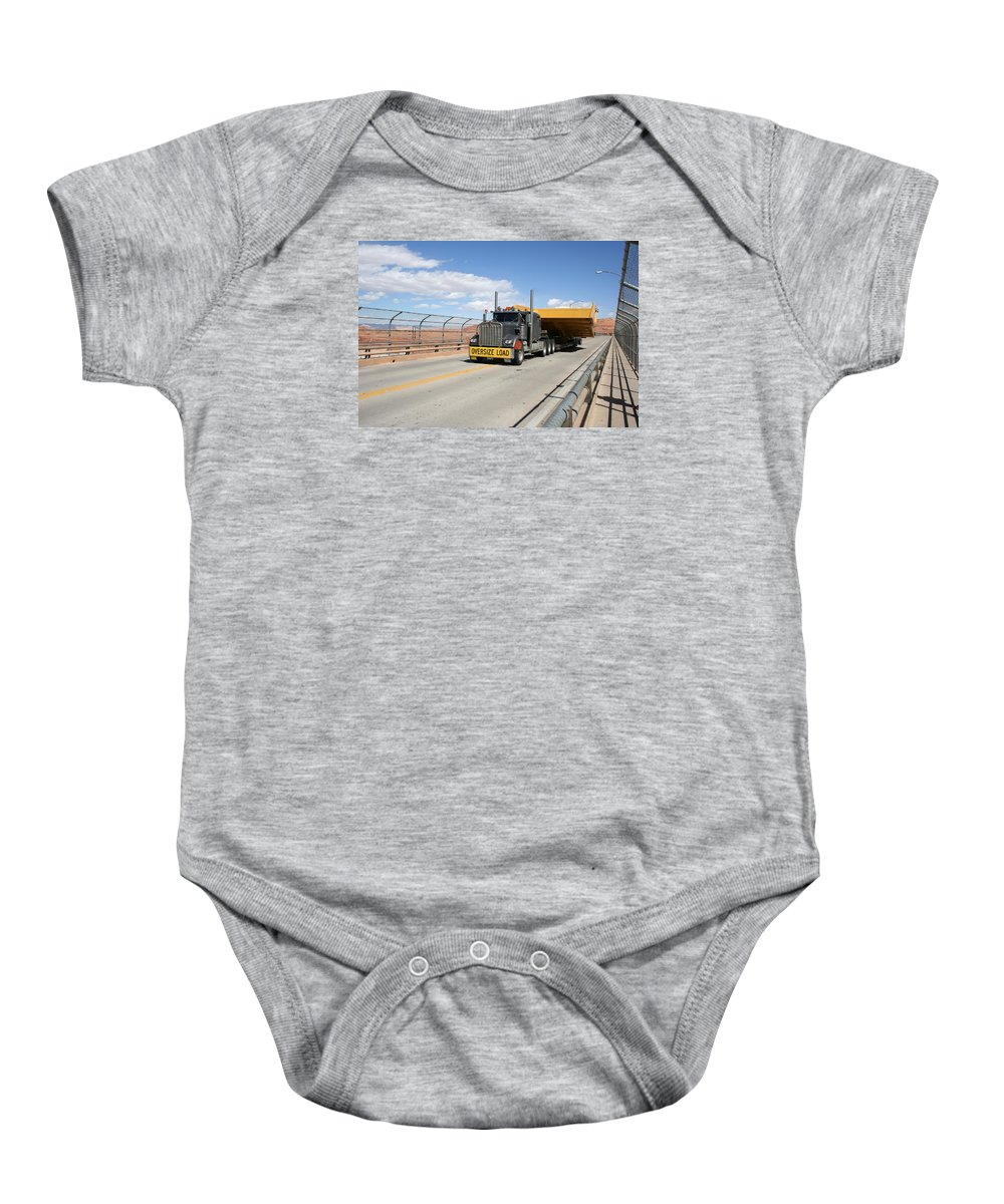 Truck Baby Onesie featuring the photograph Bear Load by Christiane Schulze Art And Photography