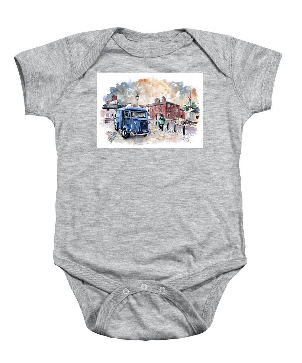 Travel Baby Onesie featuring the painting Beaumaris 06 by Miki De Goodaboom
