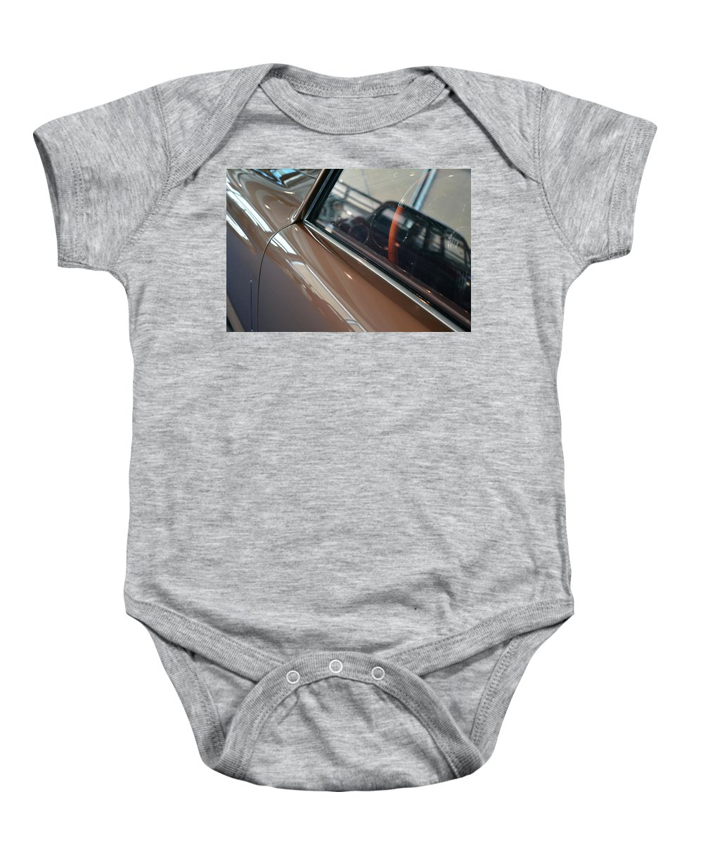 Car Baby Onesie featuring the photograph Beautiful Elegant Beige Car Side And Windows by Oana Unciuleanu