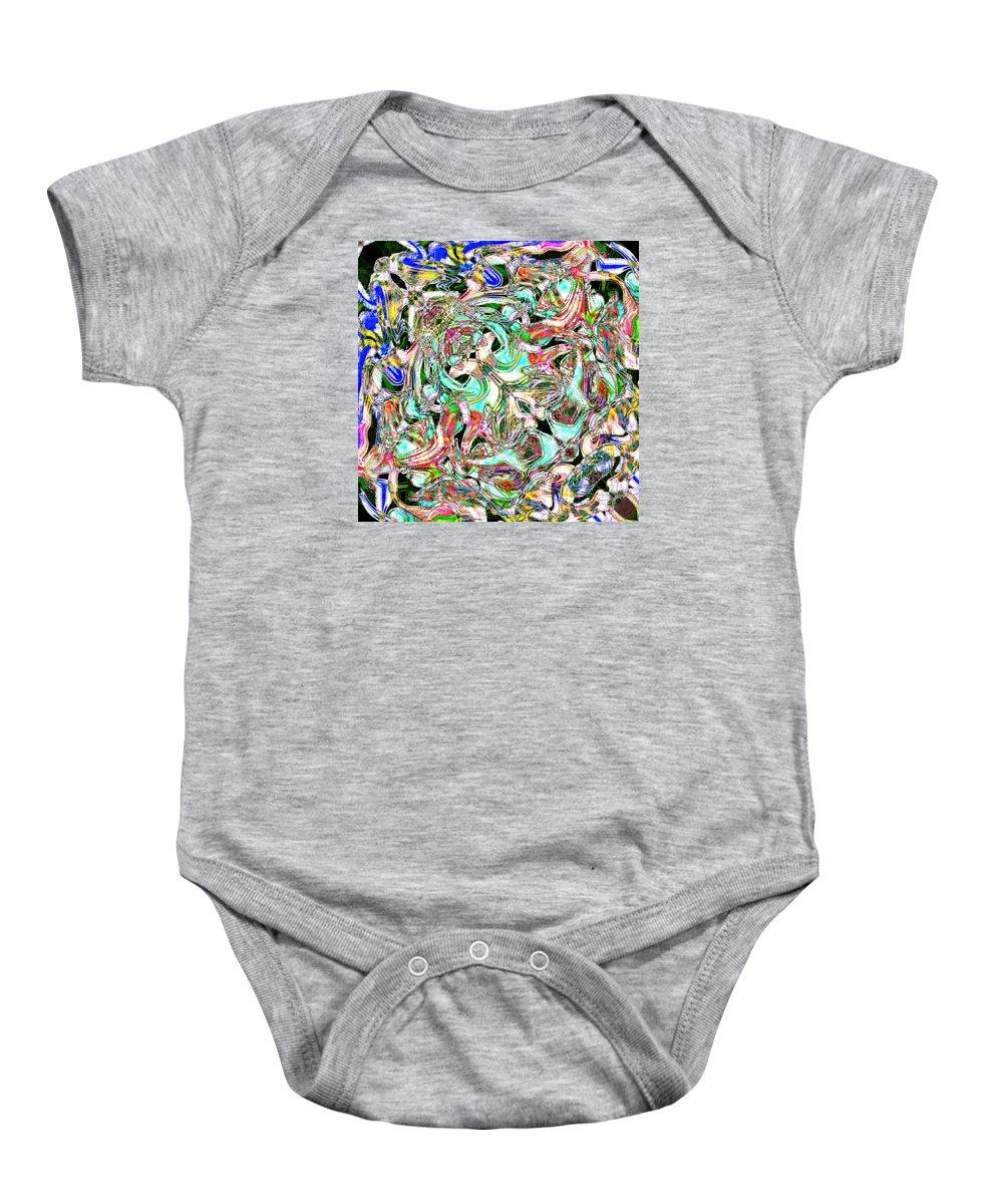Baby Onesie featuring the digital art Beautiful Garbage Clean Queen by Blind Ape Art