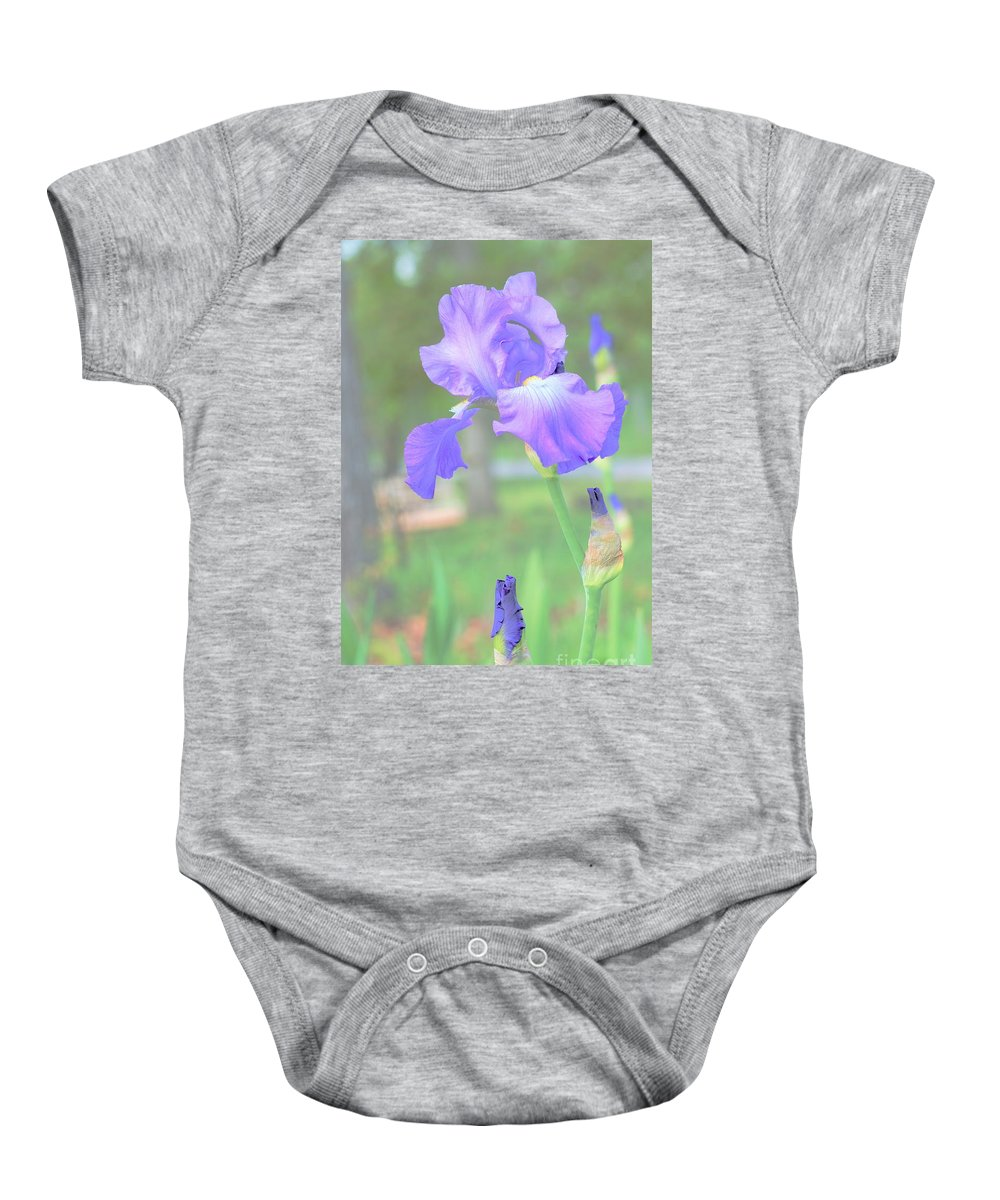 Flowers Baby Onesie featuring the photograph Beautiful In Blue by Merle Grenz