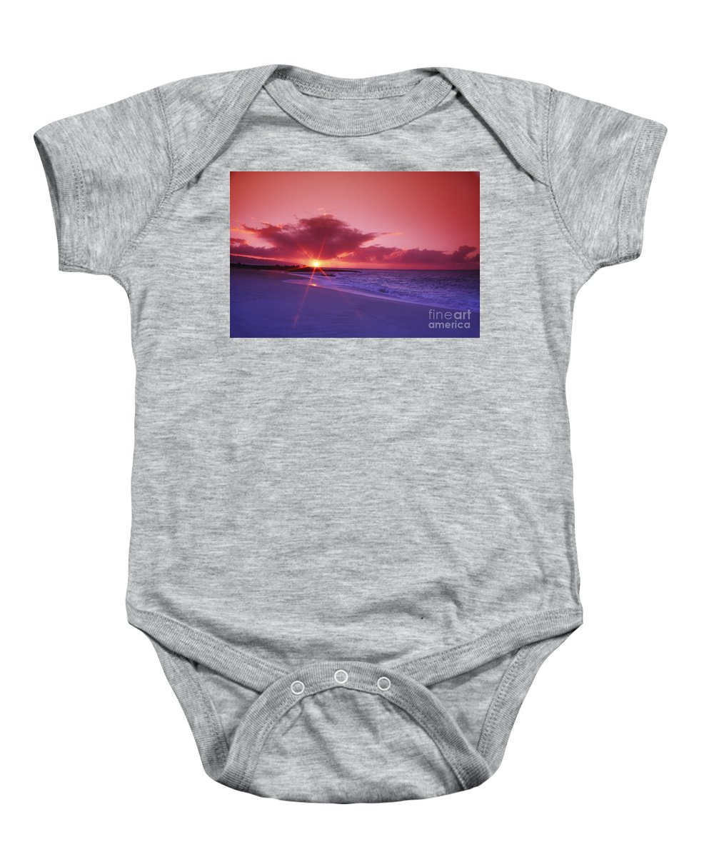 Beach Baby Onesie featuring the photograph Beautiful Pink Sunset by Vince Cavataio - Printscapes