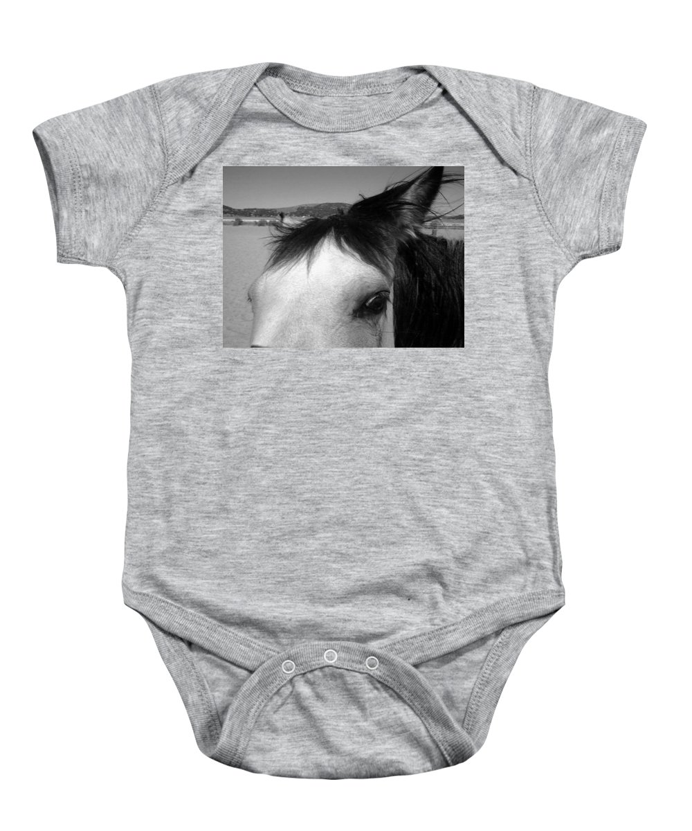 Horse Baby Onesie featuring the photograph Beauty Is In The Eye... by Jamey Balester