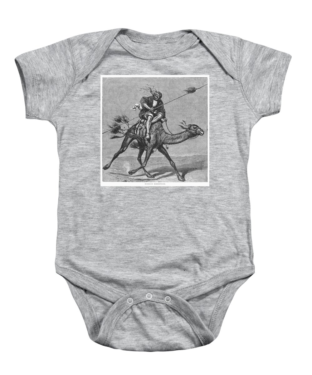 19th Century Baby Onesie featuring the photograph Bedouin Messenger by Granger