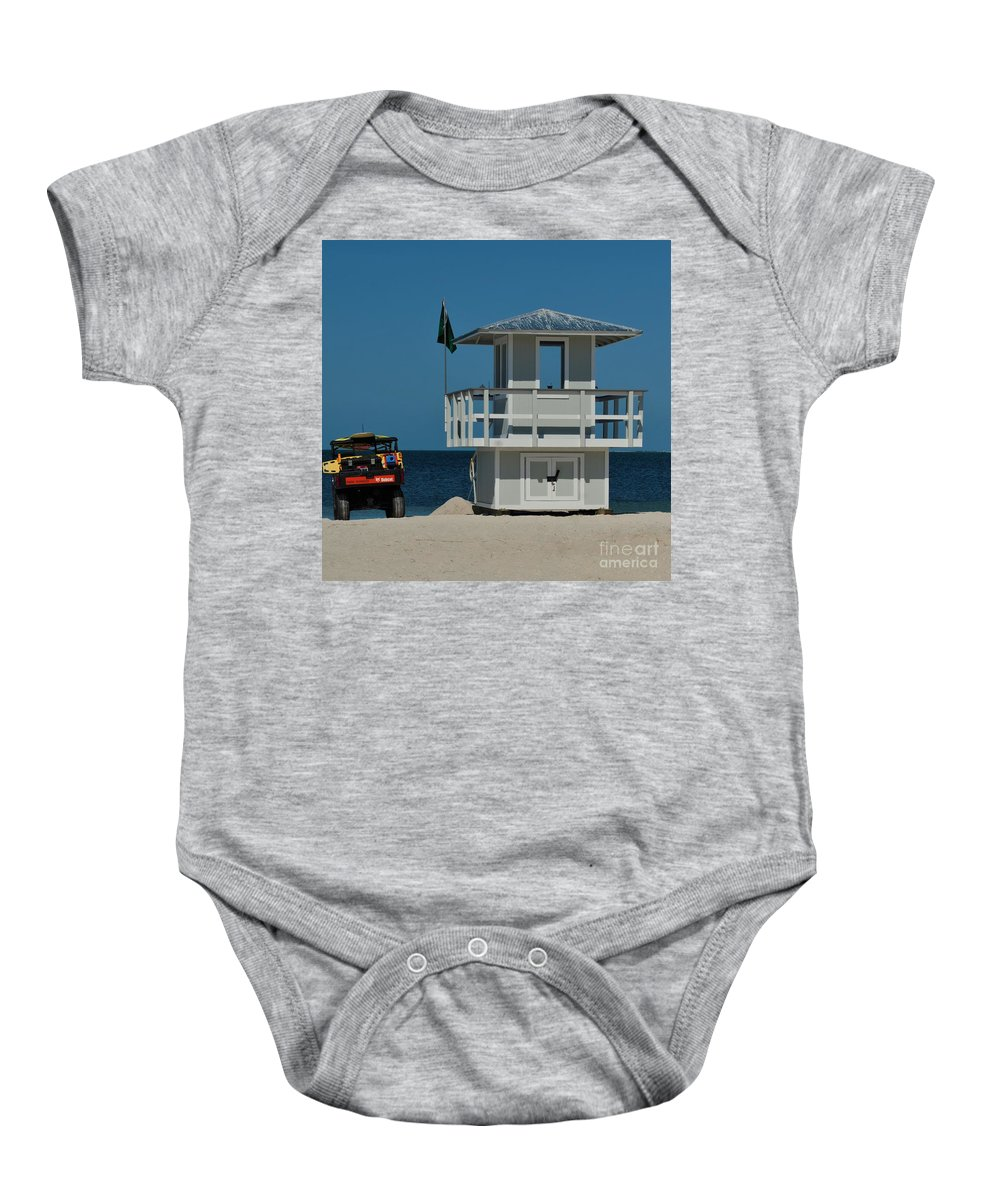 Dune Buggy Baby Onesie featuring the photograph Before The Crowds by Pamela Blizzard
