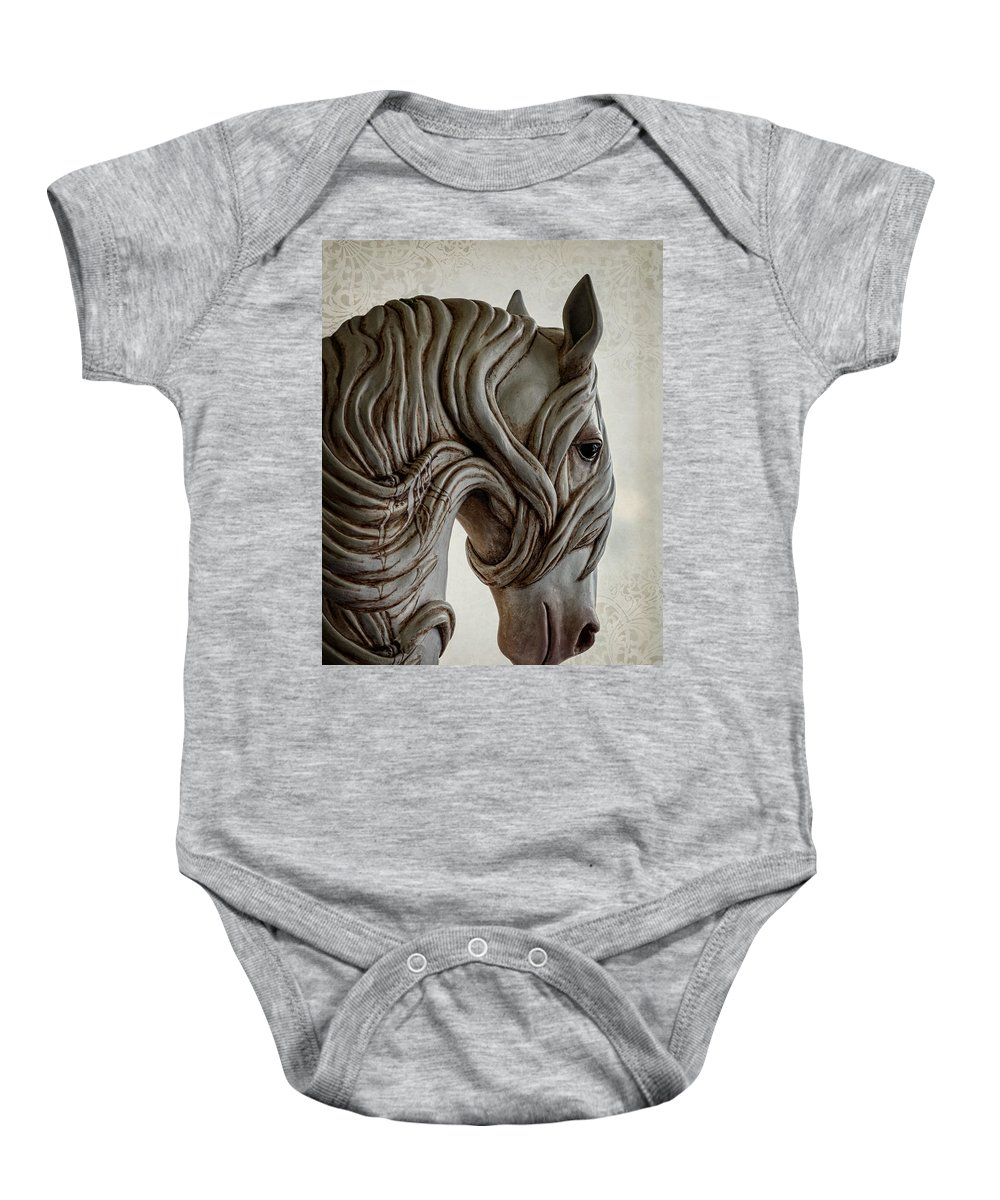 Behold The Pale Horse Baby Onesie featuring the photograph Behold The Pale Horse by Wes and Dotty Weber