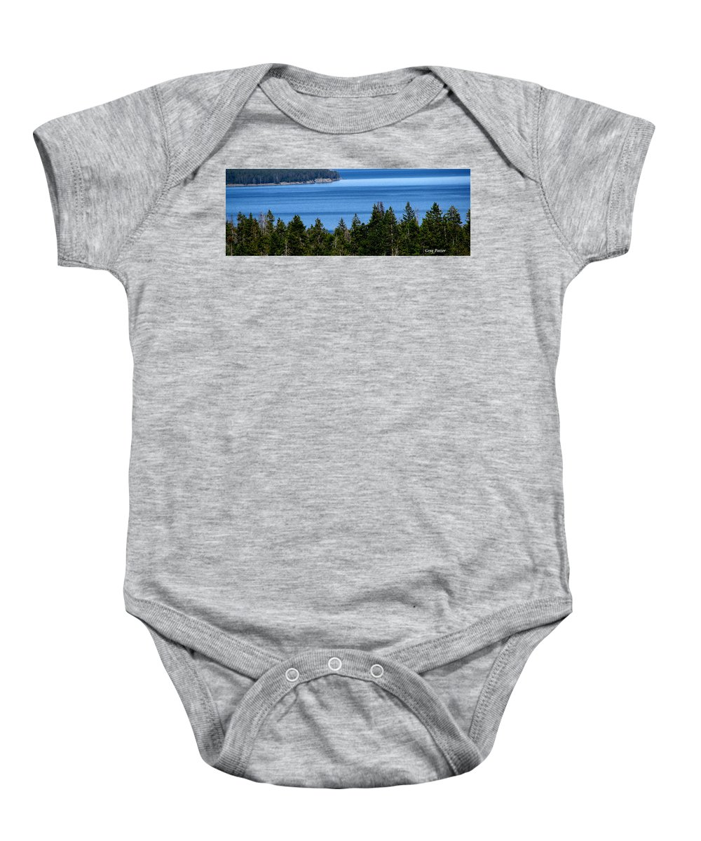Patzer Baby Onesie featuring the photograph Bend In Columbia by Greg Patzer