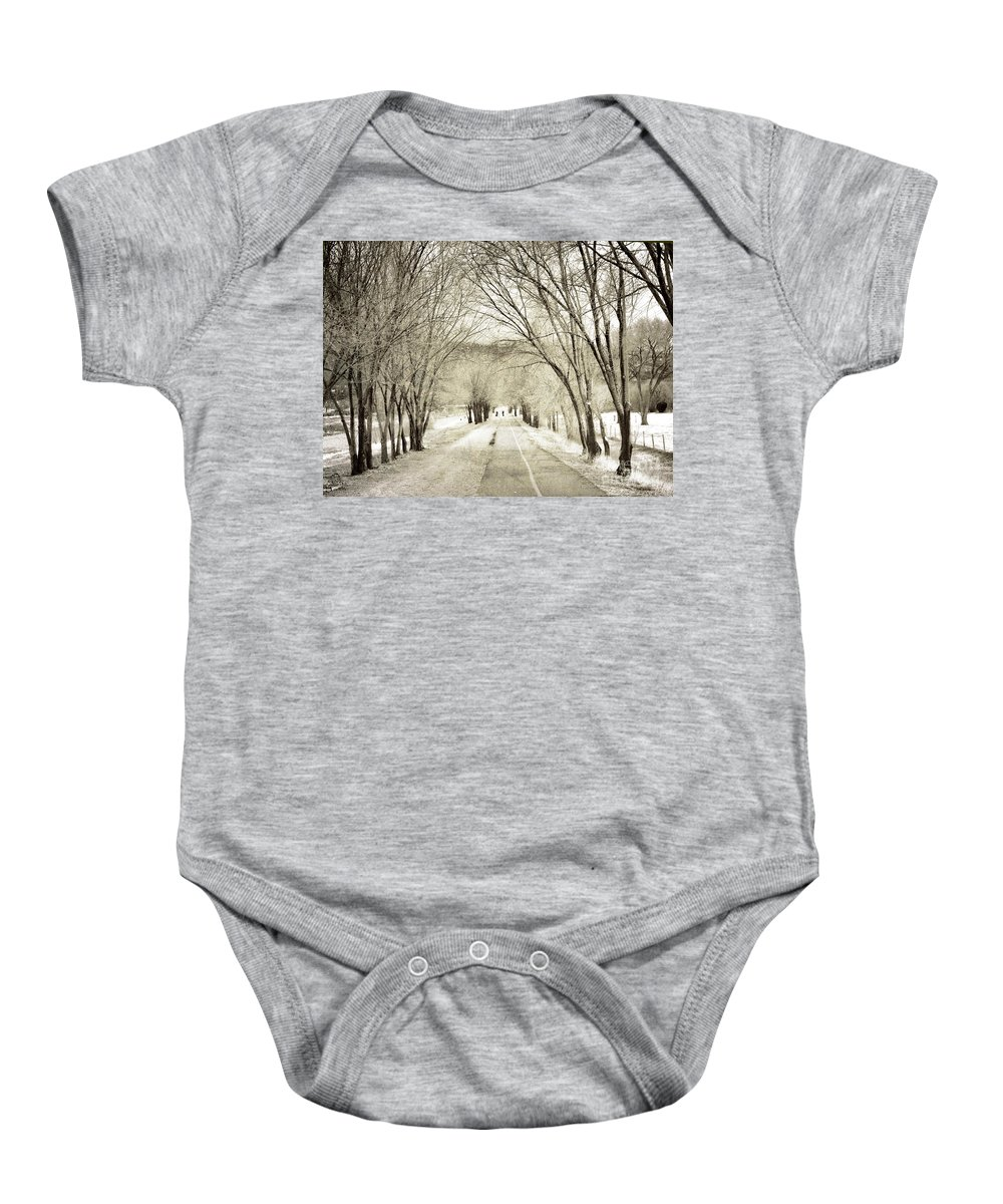 Tree Baby Onesie featuring the photograph Beneath The Branches by Tara Turner