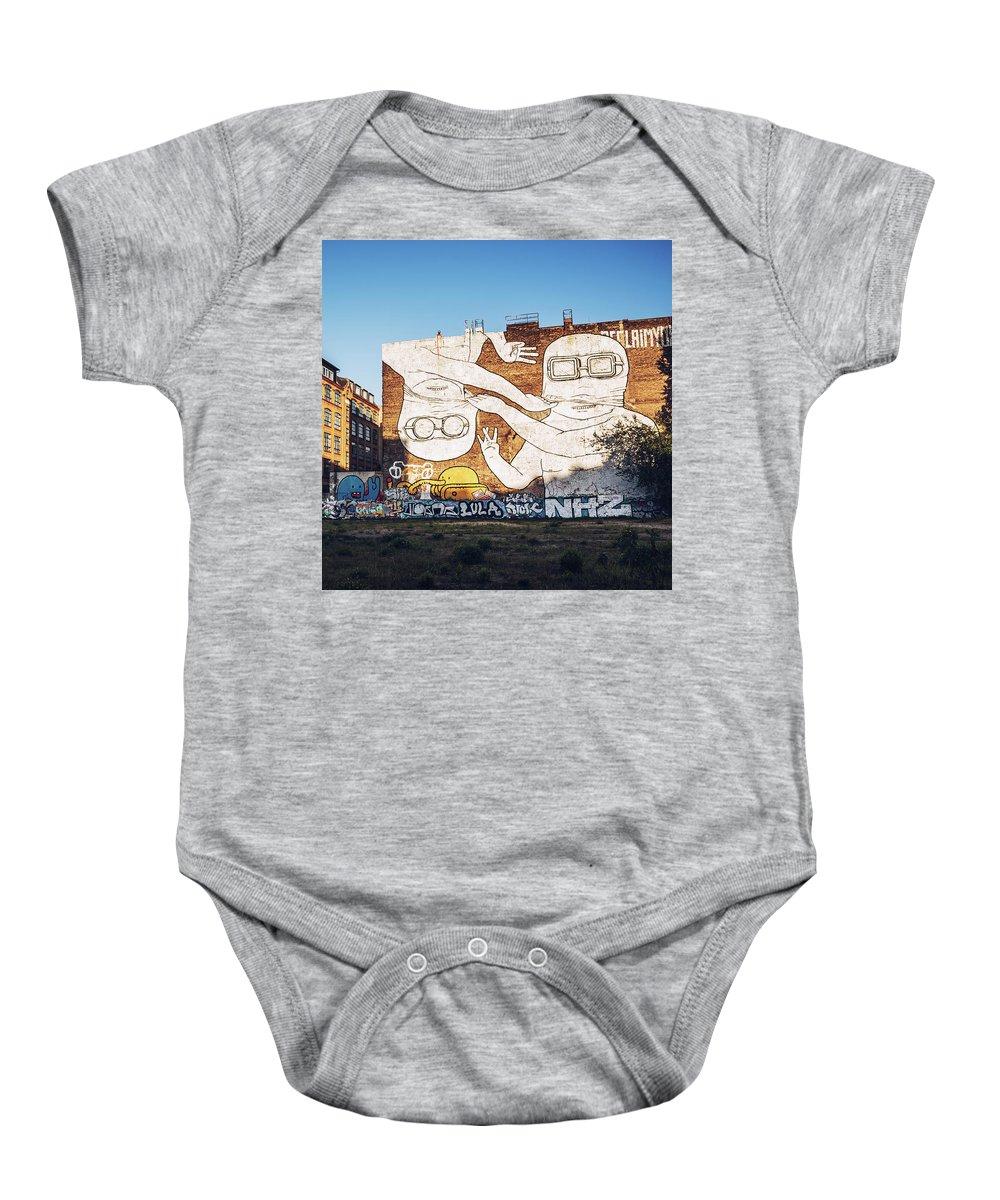 Berlin Baby Onesie featuring the photograph Berlin - Street Art by Alexander Voss