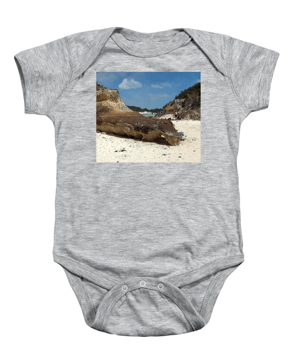 Bermuda Baby Onesie featuring the photograph Bermuda Path To The Sea by Ian MacDonald