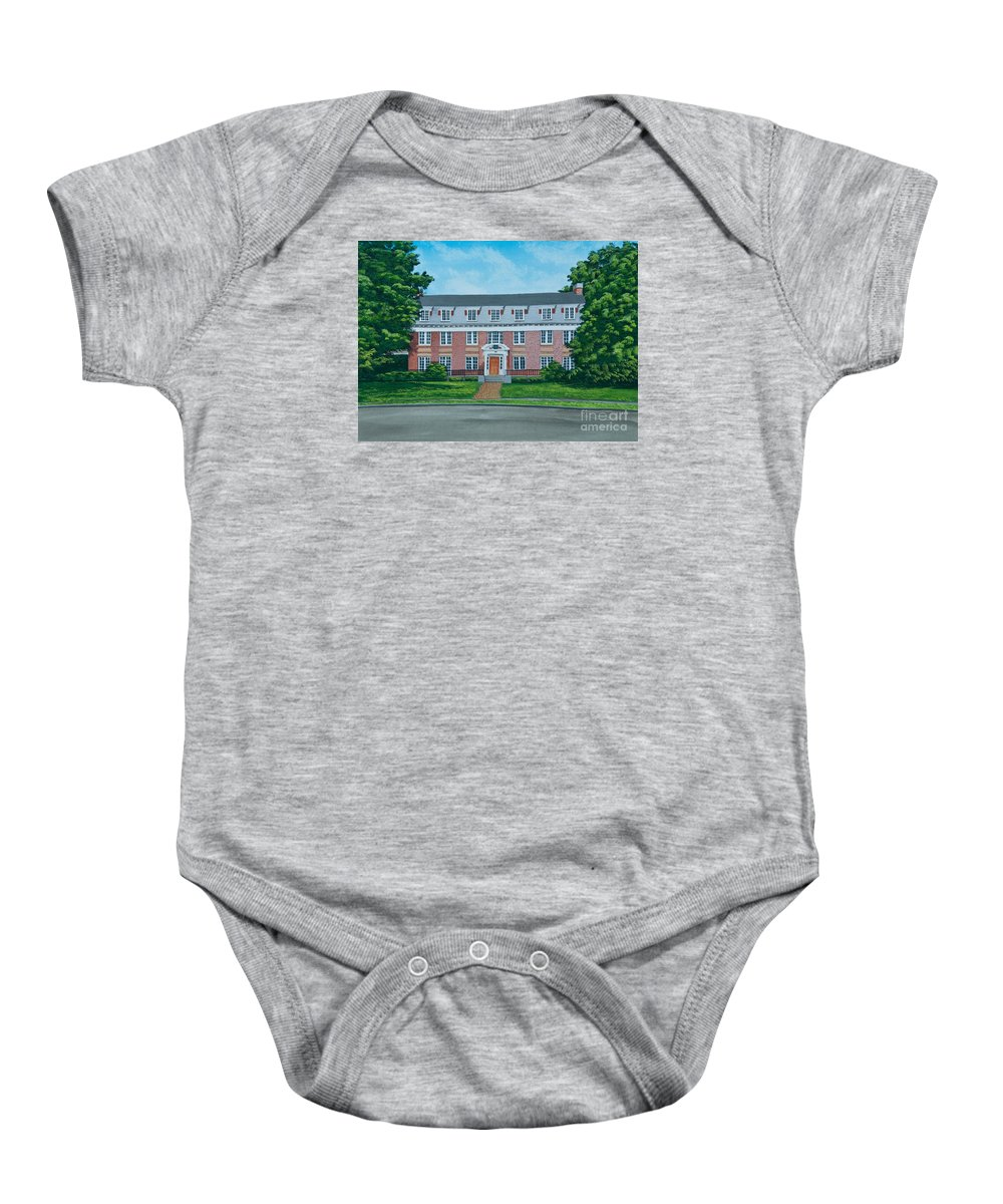Beta Theta Pi Painting Baby Onesie featuring the photograph Beta Theta Pi by Charlotte Blanchard