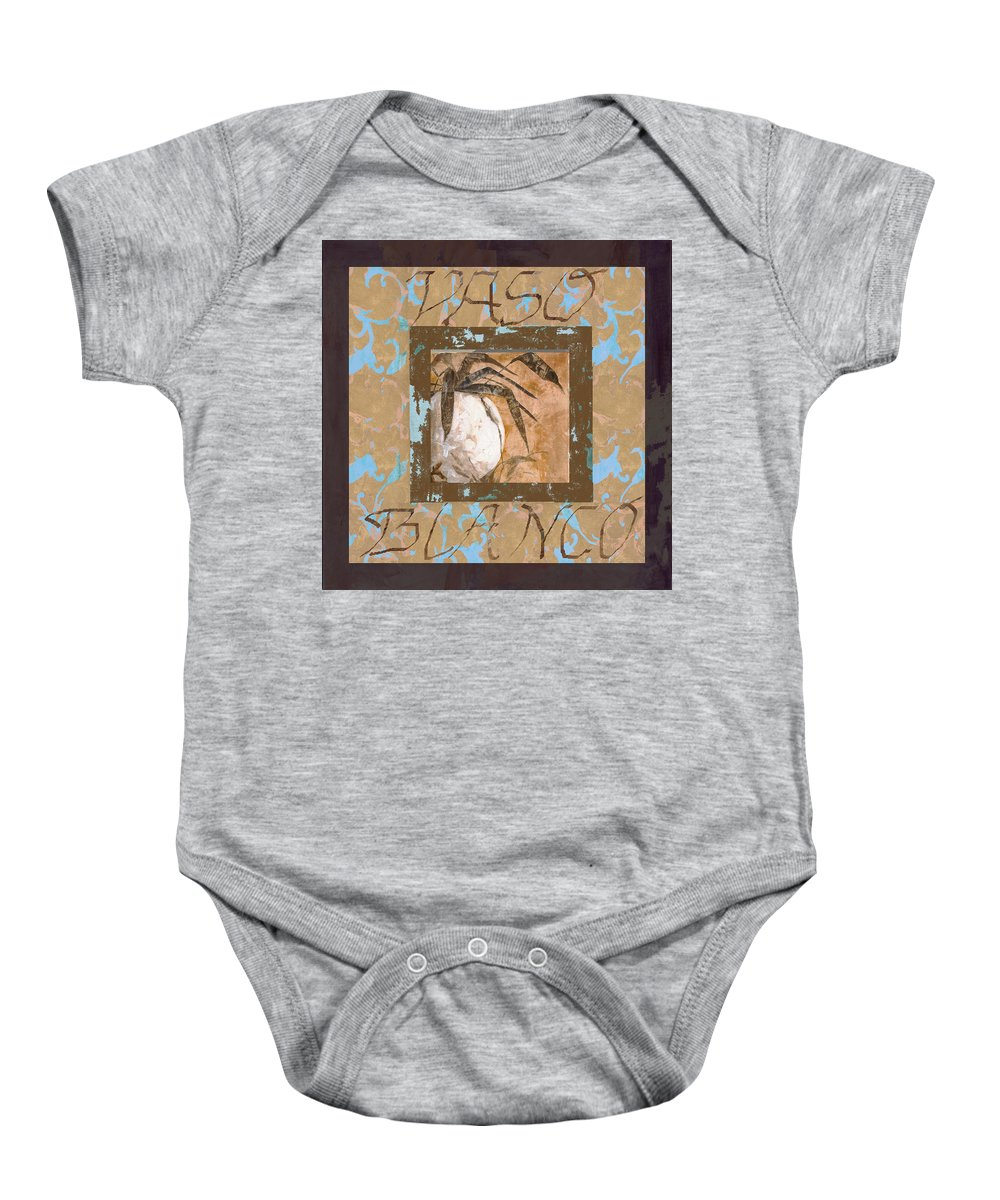 Decor Baby Onesie featuring the painting Bianco Vinaccia by Guido Borelli