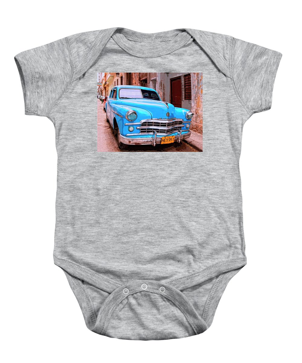 Big Bad Dodge Baby Onesie featuring the mixed media Big Bad Dodge by Dominic Piperata