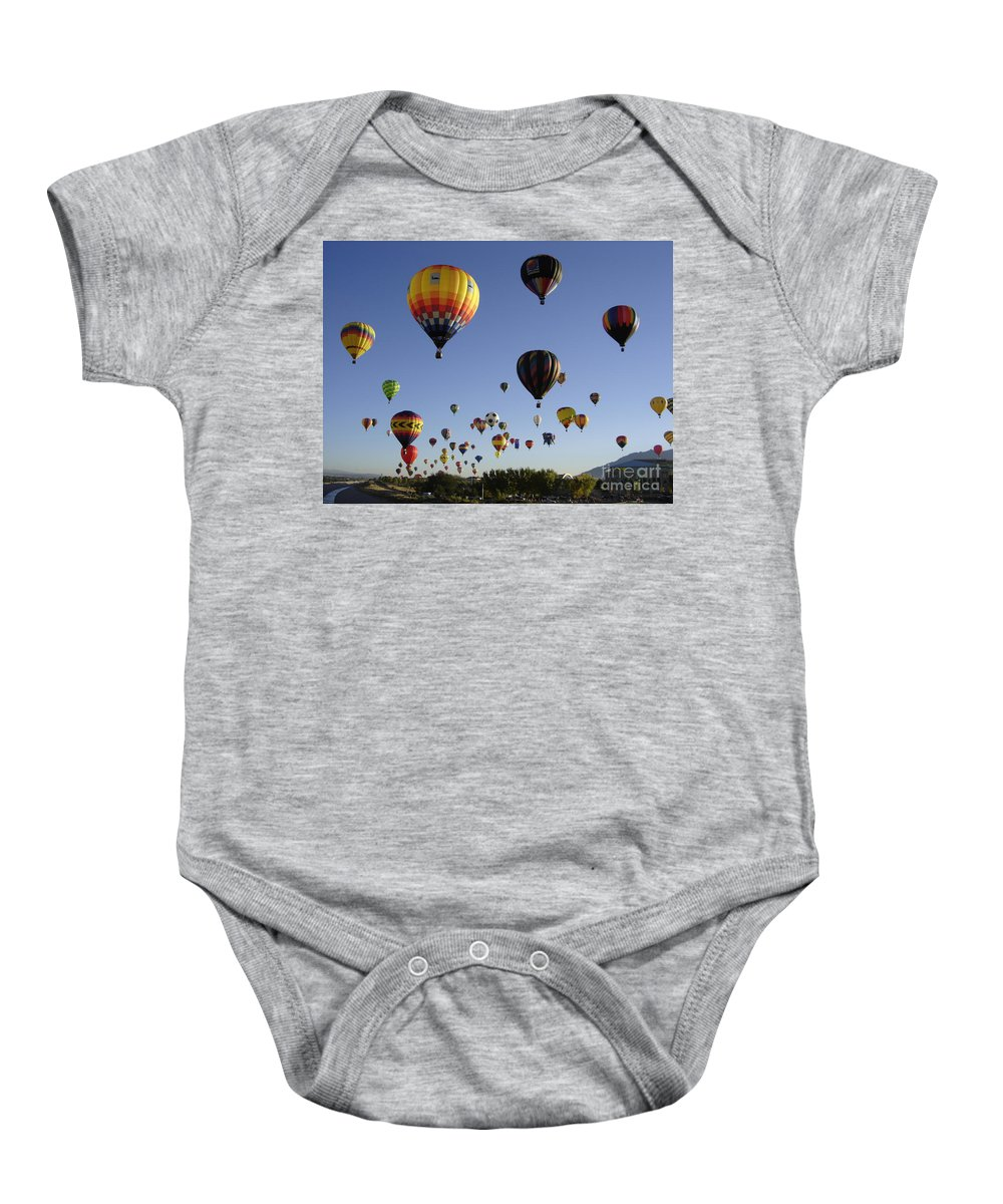 Flight Baby Onesie featuring the photograph Big Balloons by Mary Rogers