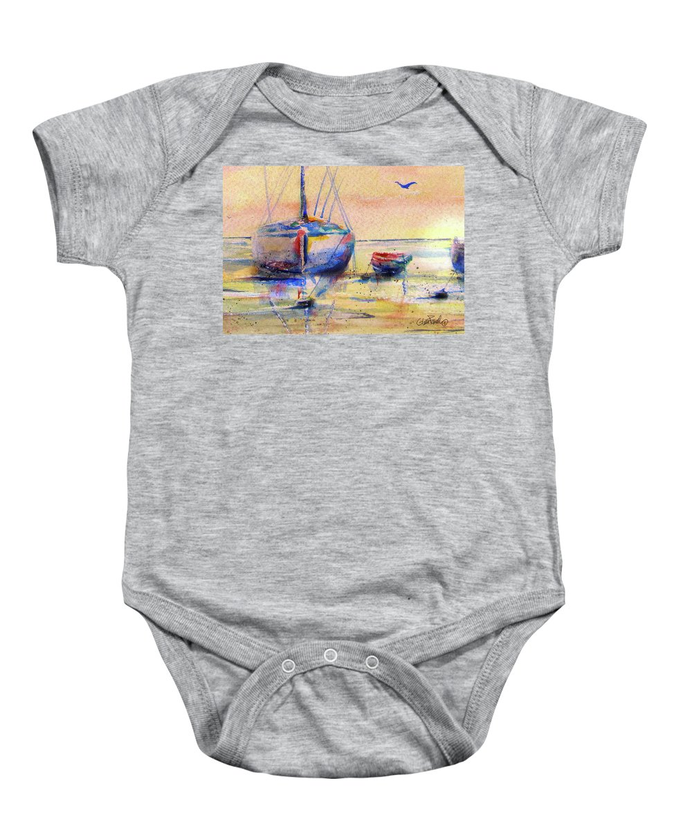 Boat Baby Onesie featuring the painting Big Brother by Glenn Farrell