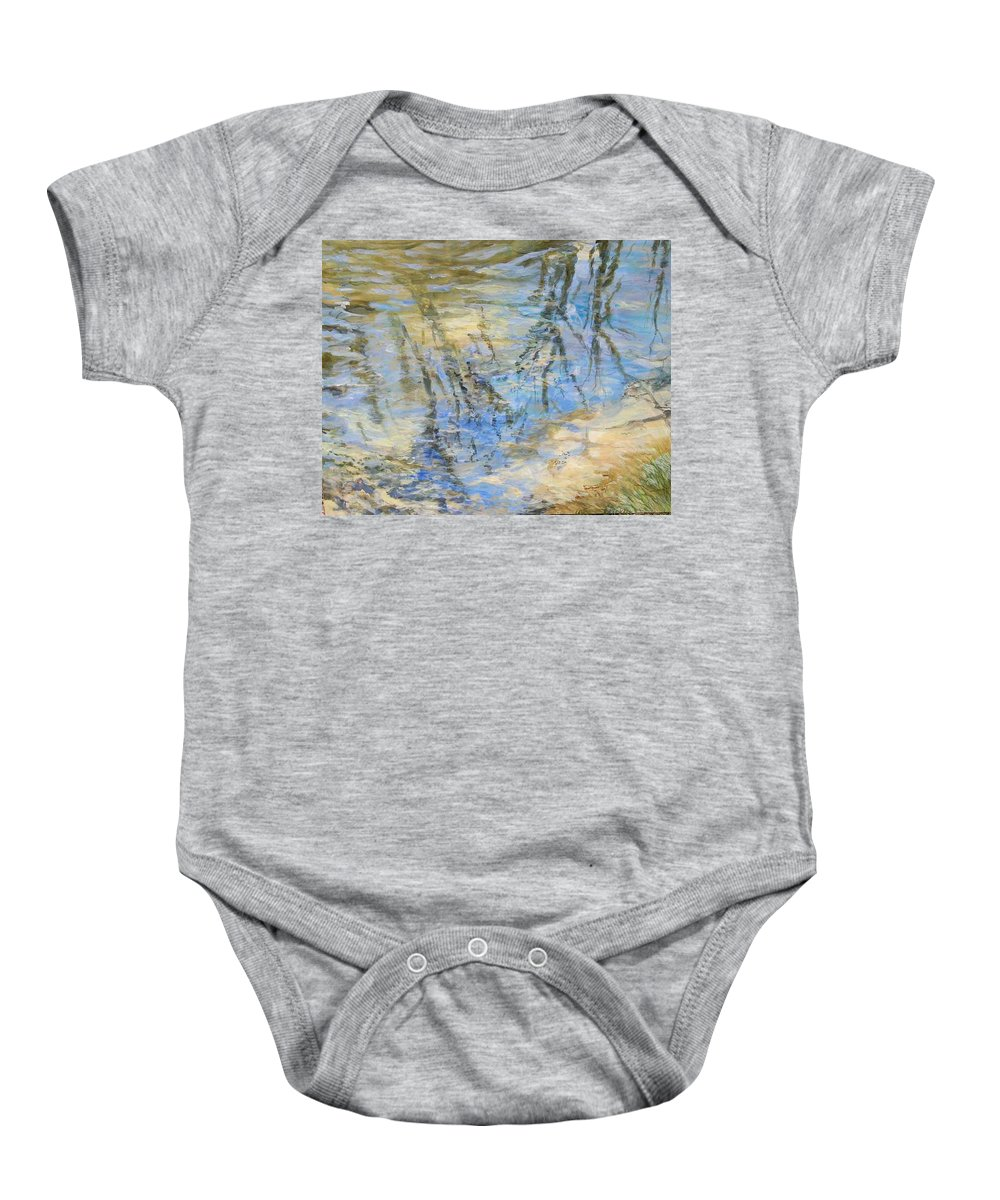 Water Baby Onesie featuring the painting Big Creek by Denise Ivey Telep