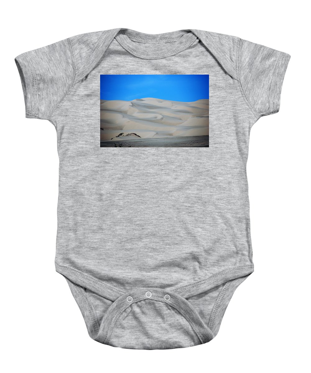 Sand Baby Onesie featuring the photograph Big Sand Dunes In Ca by Susanne Van Hulst