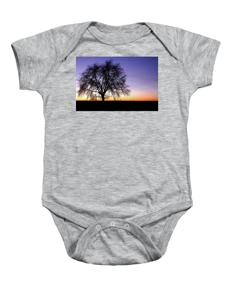 Morning Baby Onesie featuring the photograph Big Sky - New Mexico by D'Arcy Evans