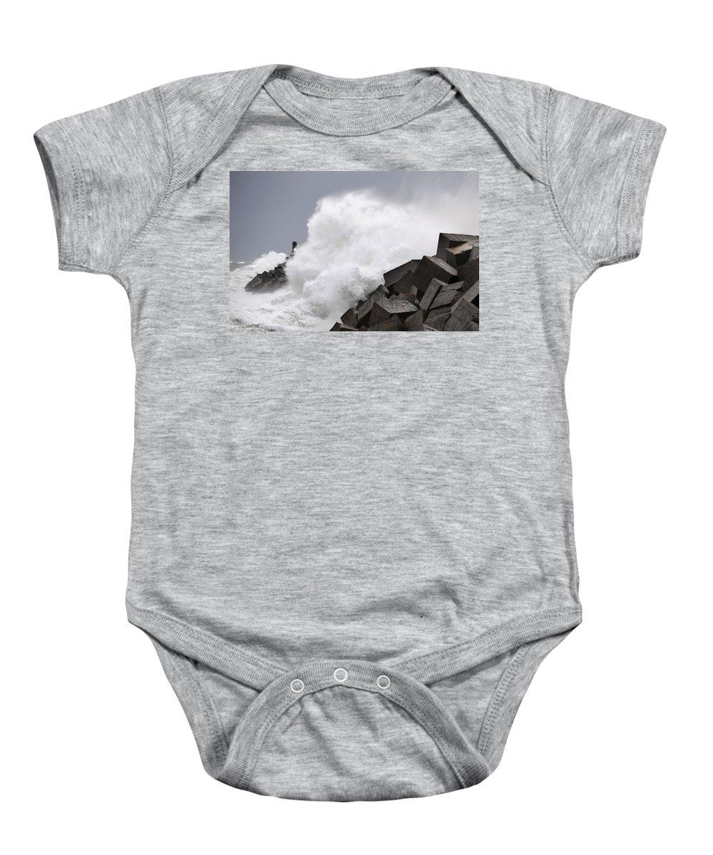 Spain Baby Onesie featuring the photograph Big Waves II by Rafa Rivas