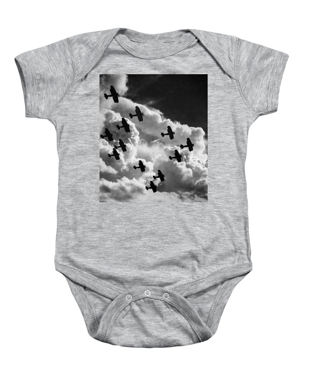 1917 Baby Onesie featuring the photograph Biplanes, C1917 by Granger