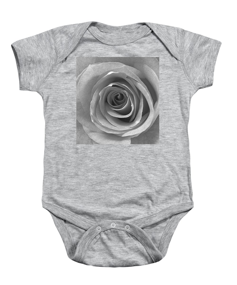 Rose Pedals Baby Onesie featuring the photograph Black And White by Luciana Seymour