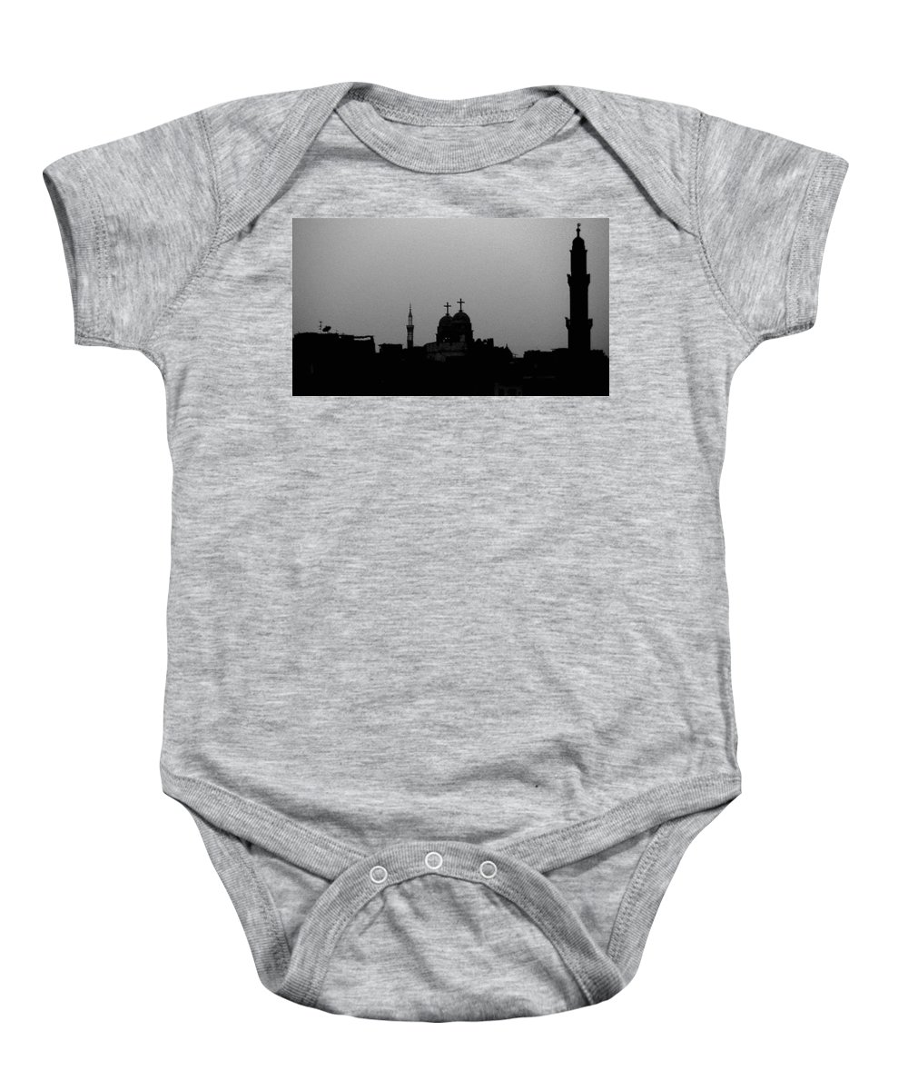 Nile Baby Onesie featuring the photograph Black White Symbiosis by Dragica Micki Fortuna