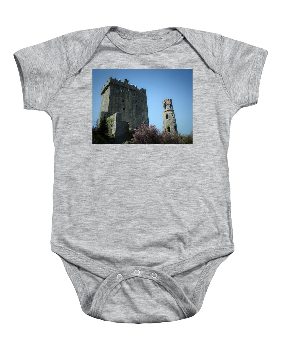 Irish Baby Onesie featuring the photograph Blarney Castle And Tower County Cork Ireland by Teresa Mucha