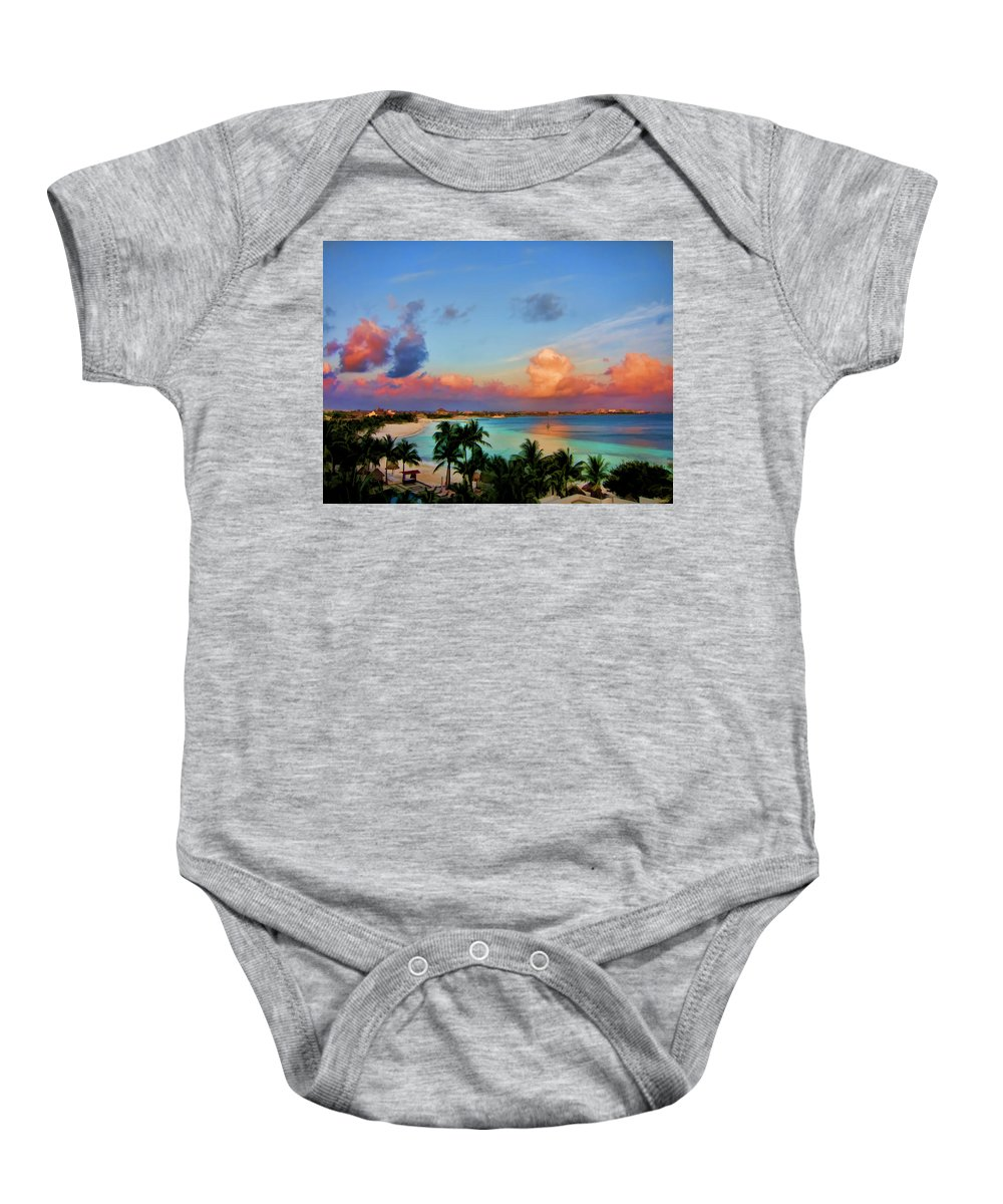 Clouds Baby Onesie featuring the photograph Bliss by Douglas Barnard