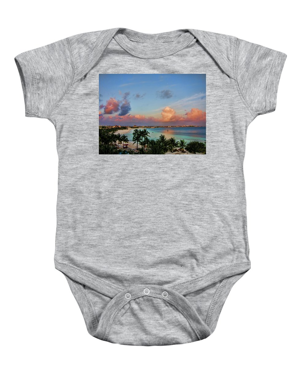 Clouds Baby Onesie featuring the photograph Bliss V2 by Douglas Barnard