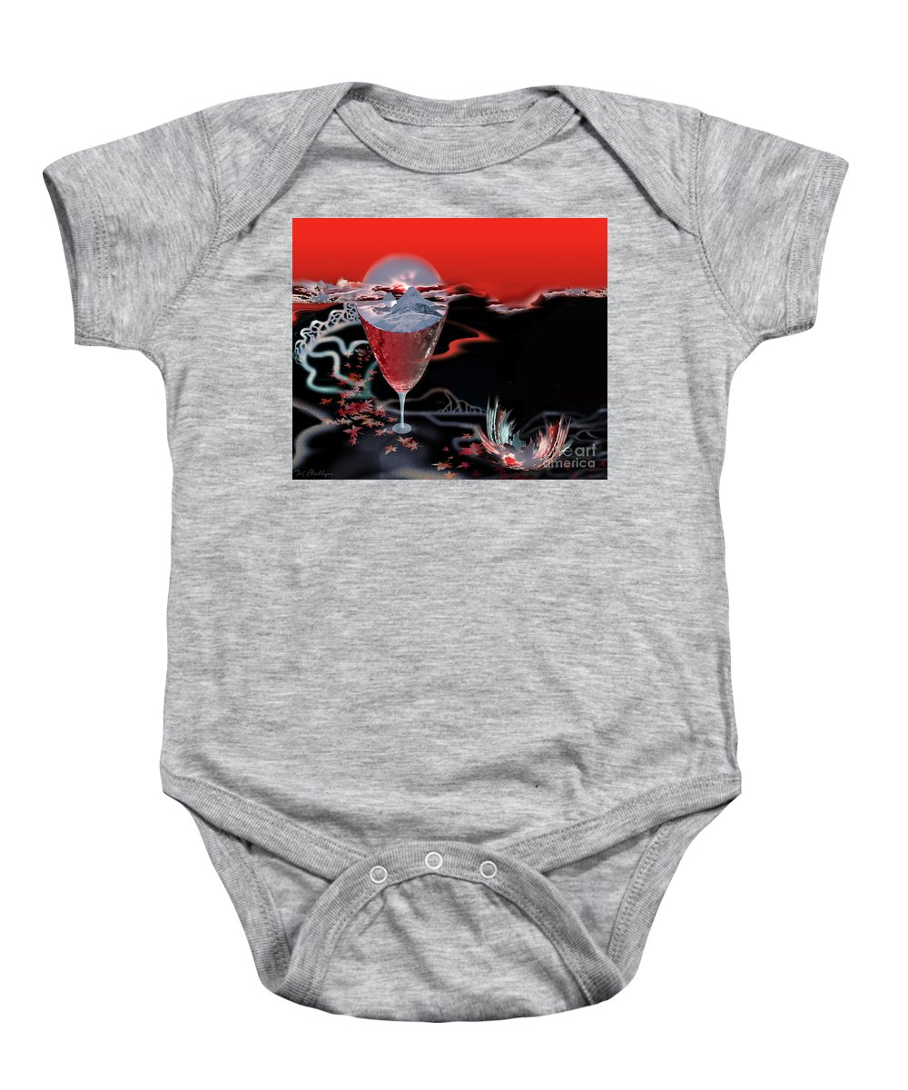 Blood Baby Onesie featuring the digital art Blood Red From Pure White by Jennifer Kathleen Phillips