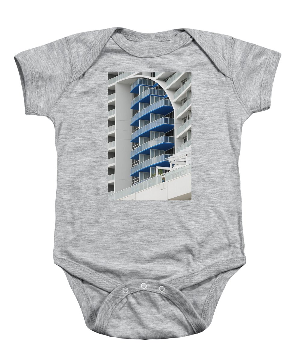 Architecture Baby Onesie featuring the photograph Blue Bayu by Rob Hans