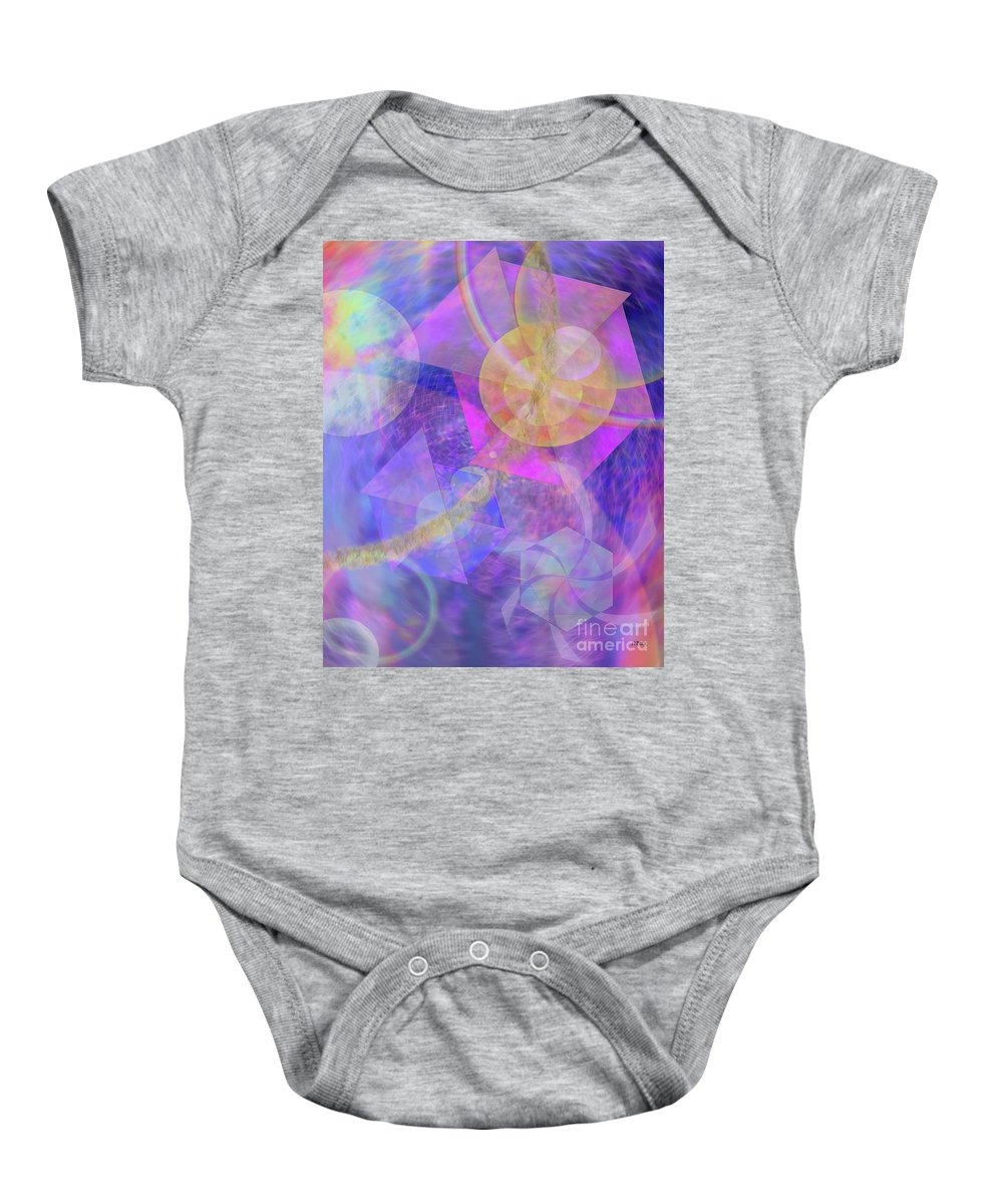 Blue Expectations Baby Onesie featuring the digital art Blue Expectations by John Beck