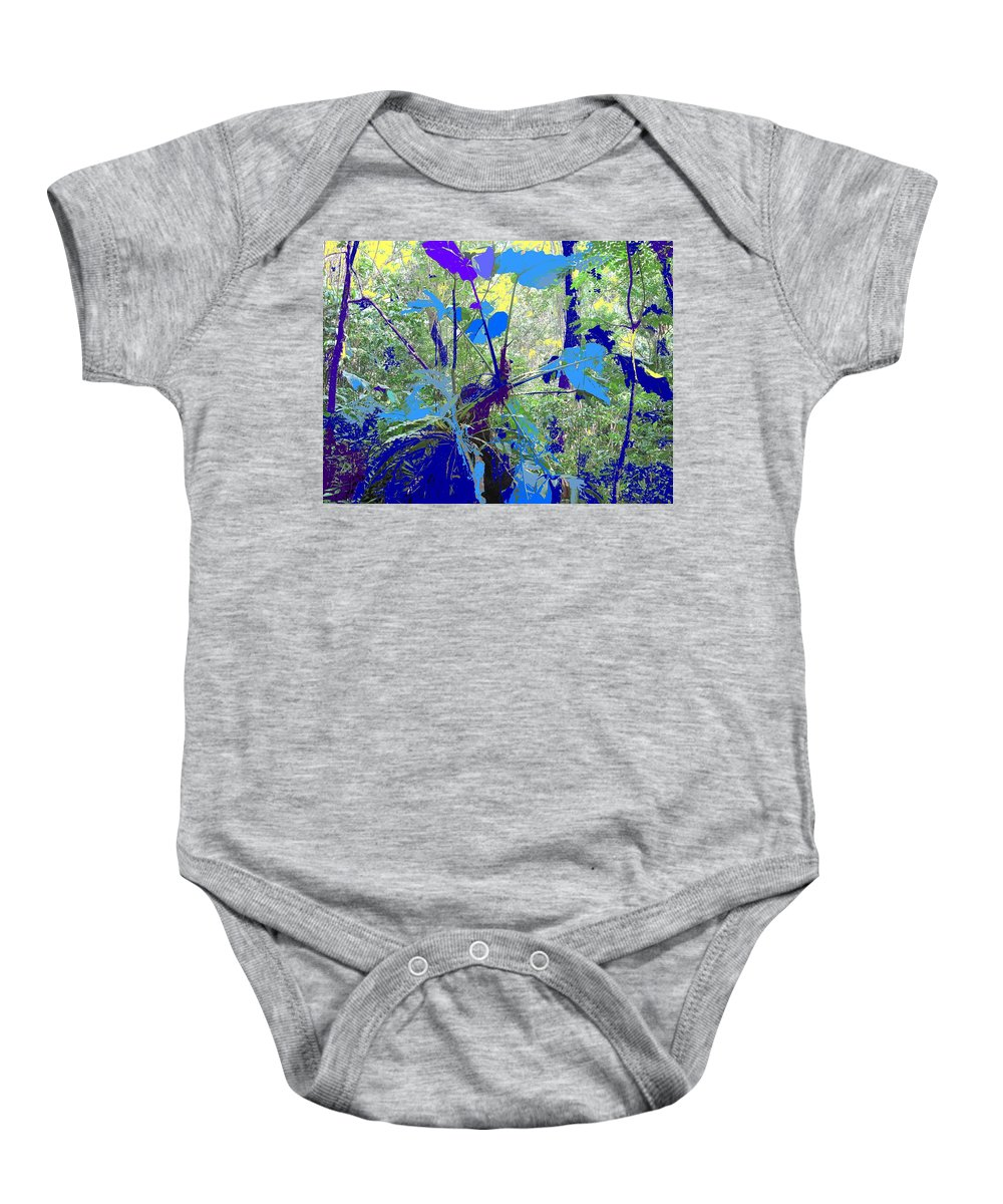 Baby Onesie featuring the photograph Blue Jungle by Ian MacDonald