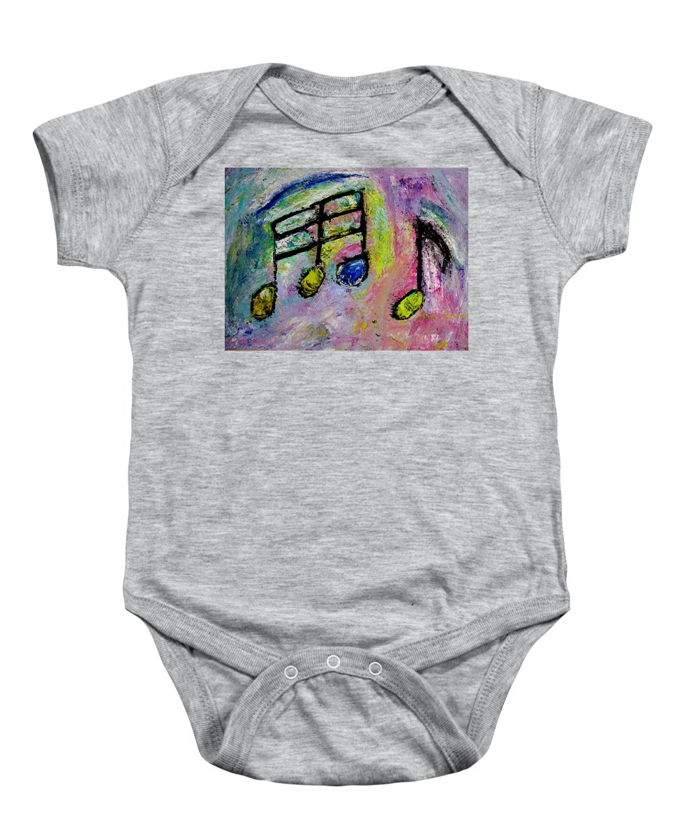 Impressionist Baby Onesie featuring the painting Blue Note by Anita Burgermeister