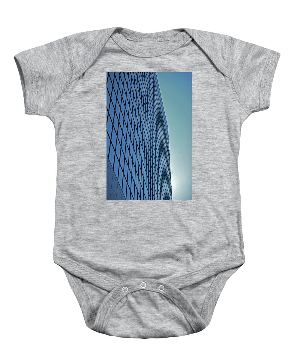 Chicago Baby Onesie featuring the photograph Blue Rise by Skip Willits