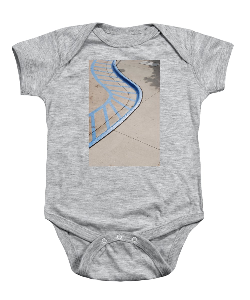 Blue Baby Onesie featuring the photograph Blue Zone by Rob Hans