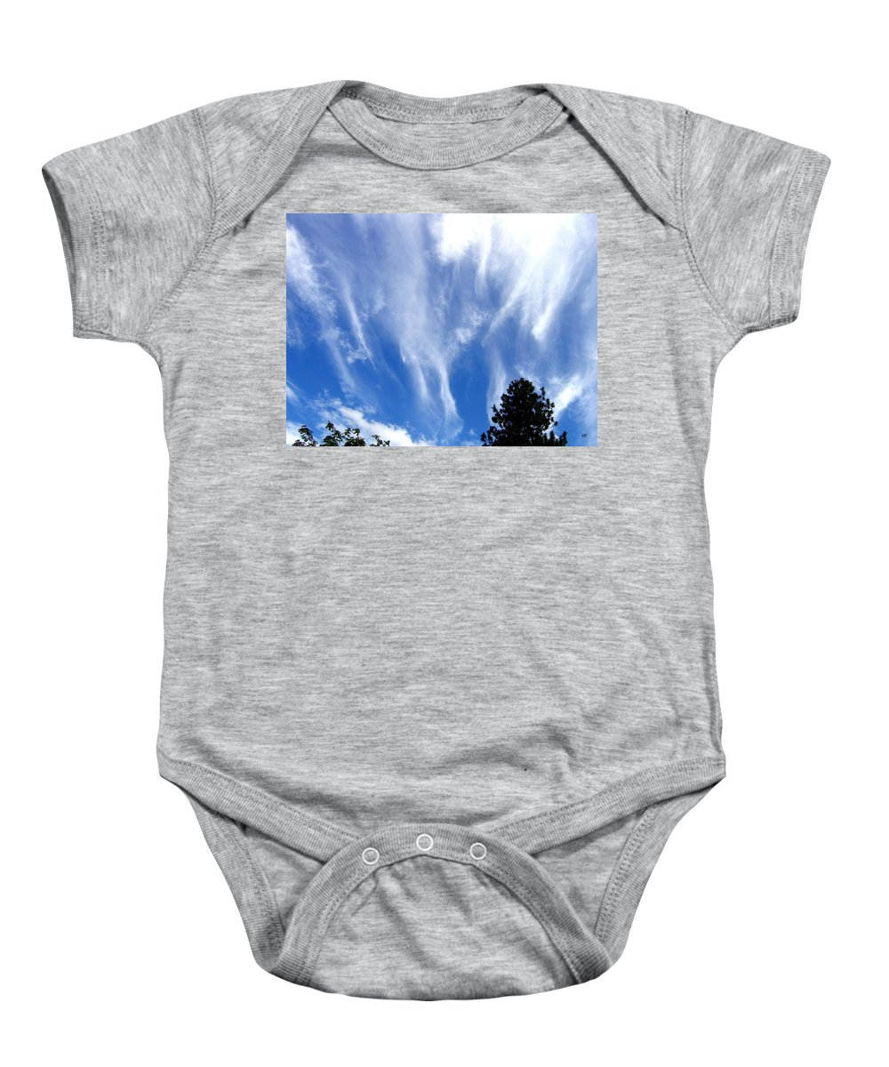 Sky Baby Onesie featuring the photograph Blustery Sky by Will Borden
