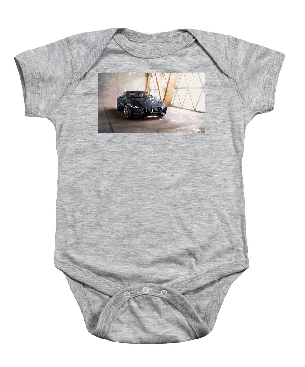 Baby Onesie featuring the digital art Bmw Concept 8 Series 4k by Alice Kent