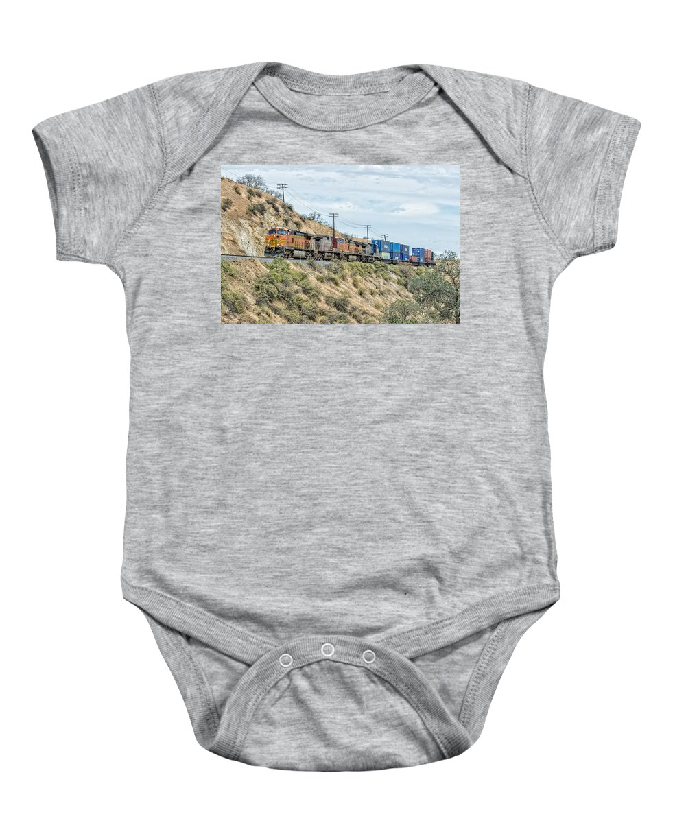 Bnsf Baby Onesie featuring the photograph Bnsf5256 by Jim Thompson