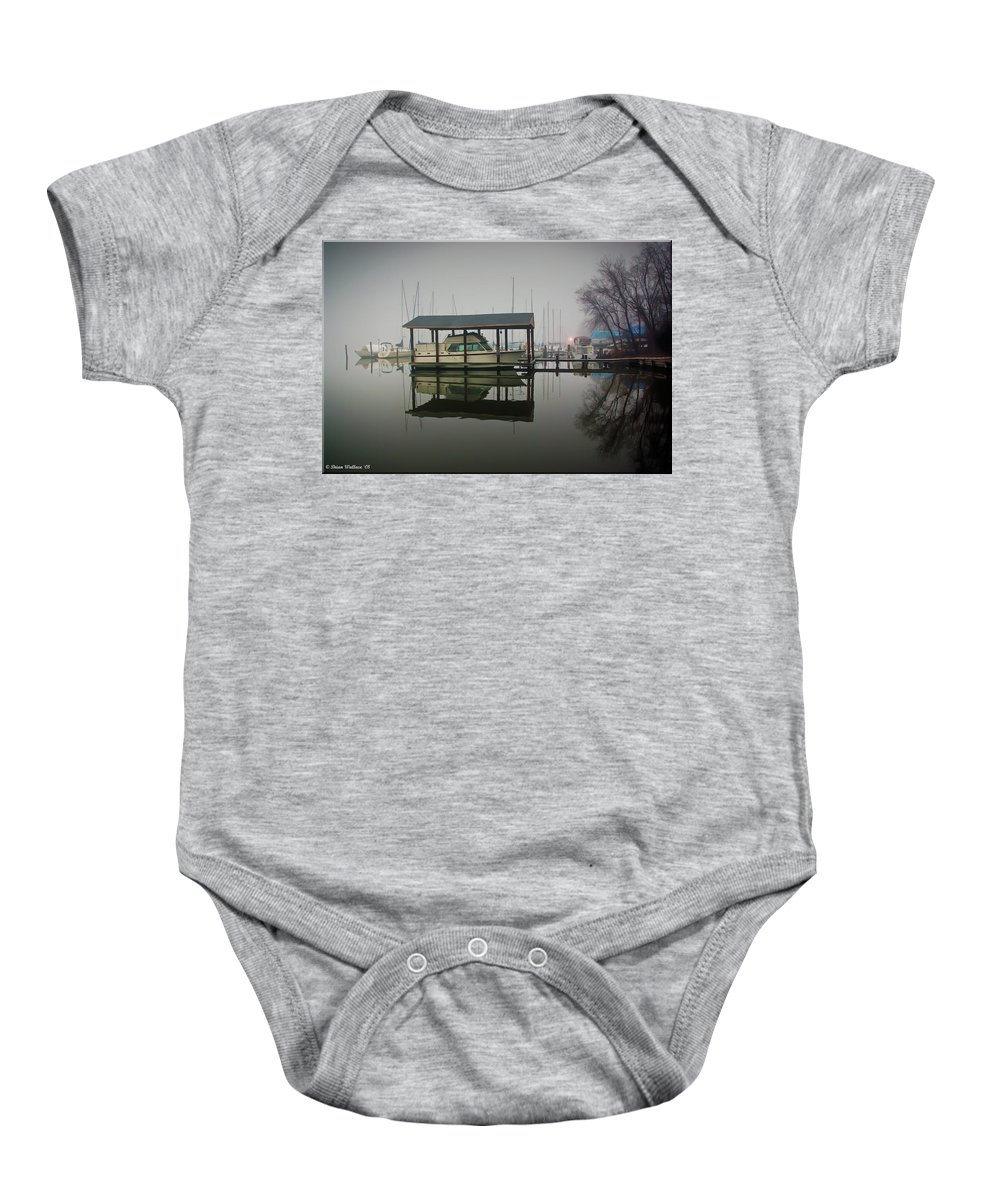 2d Baby Onesie featuring the photograph Boathouse by Brian Wallace