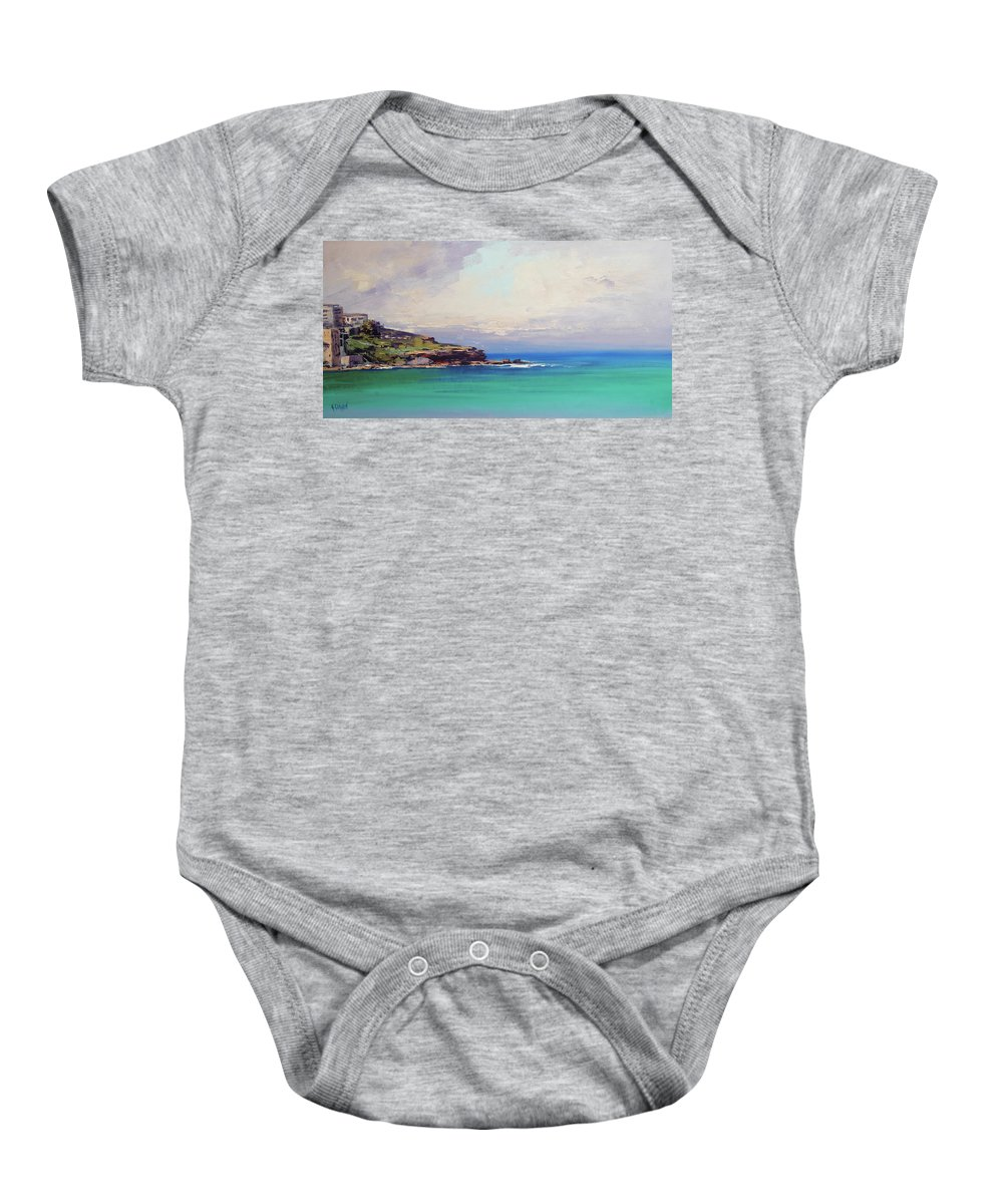 Nature Baby Onesie featuring the painting Bondi Beach Colours by Graham Gercken