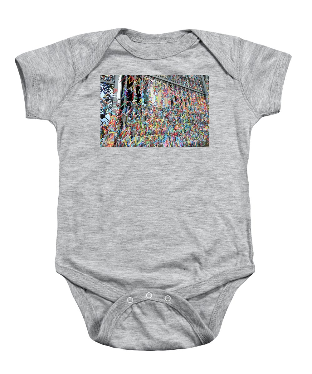 Bonfim Baby Onesie featuring the photograph Bonfim Wish Ribbons by Ralf Broskvar