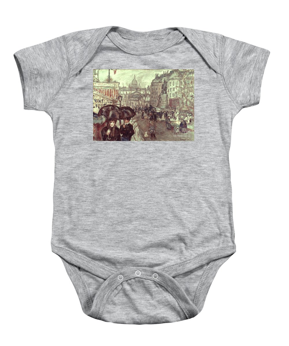 1895 Baby Onesie featuring the photograph Bonnard: Place Clichy, C1895 by Granger