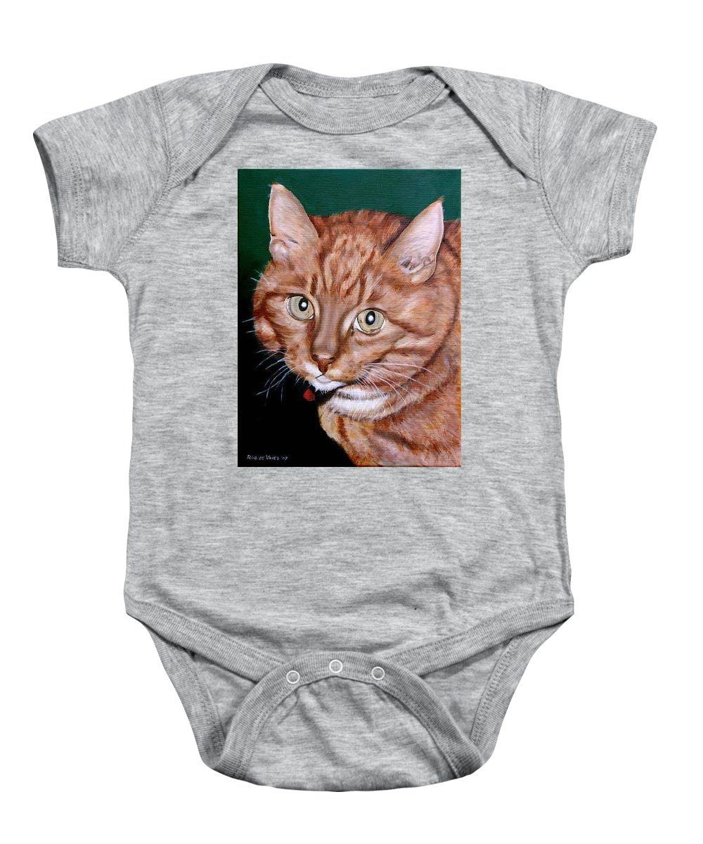 Pets Baby Onesie featuring the painting Boris by Rob De Vries