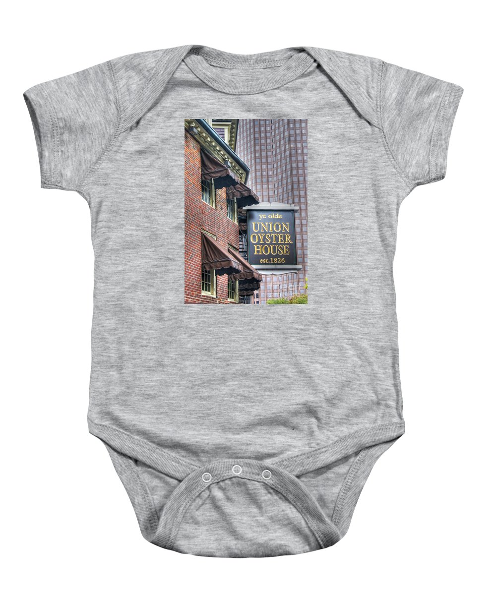 Boston Baby Onesie featuring the photograph Boston Old And New by David Birchall