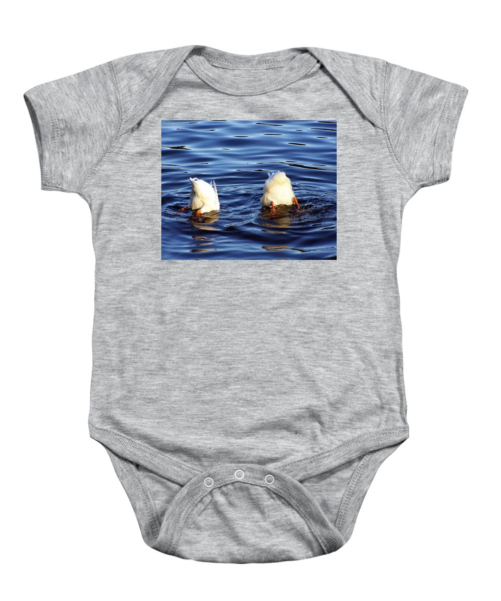 Duck Baby Onesie featuring the photograph Bottoms Up by Francesa Miller